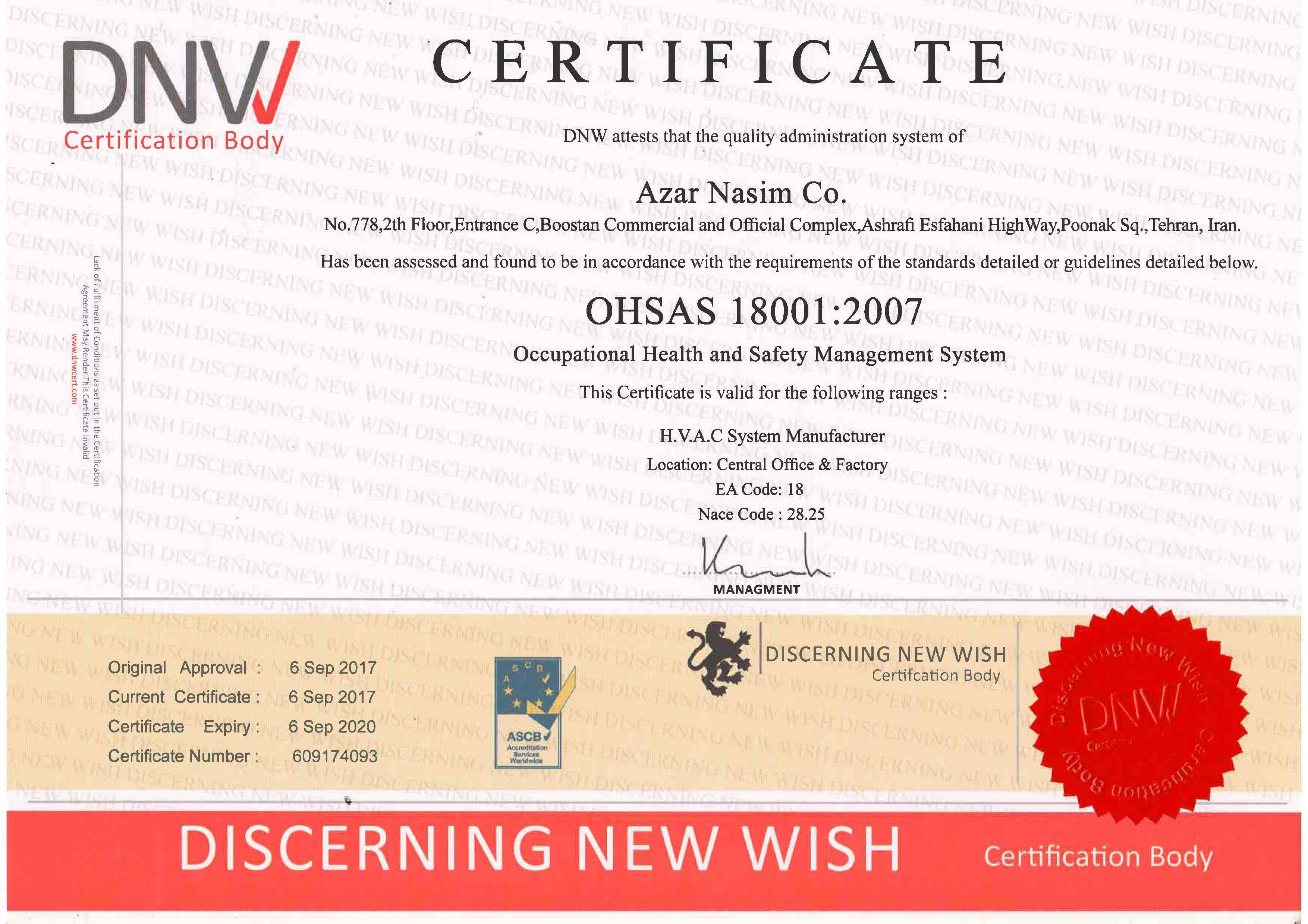 ISO 18001-certificate