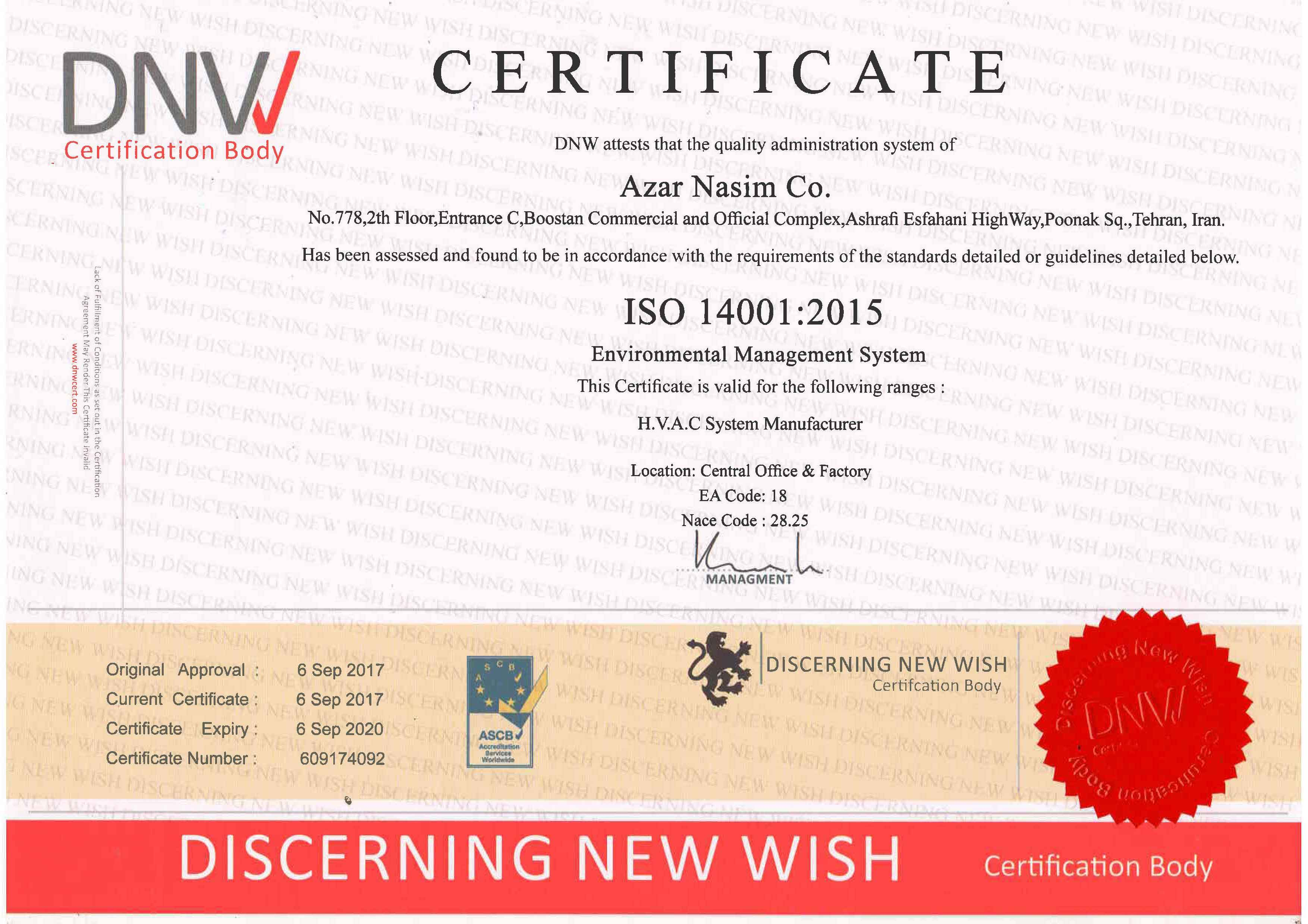 ISO 4001-certificate